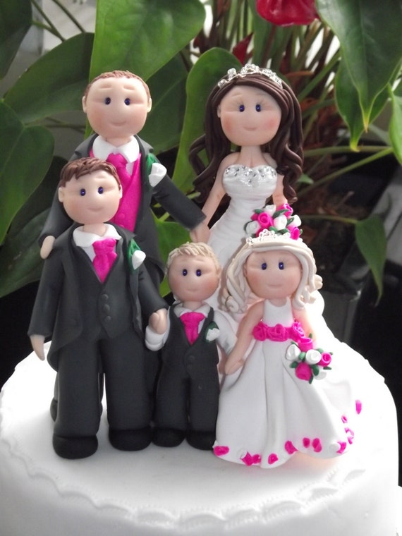 wedding cake toppers with children items similar to personalised groom 3 children 26629
