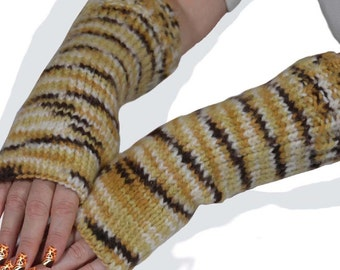 Tiger Knitting Fingerless Gloves Women Accessories Winter Fashion Knitting