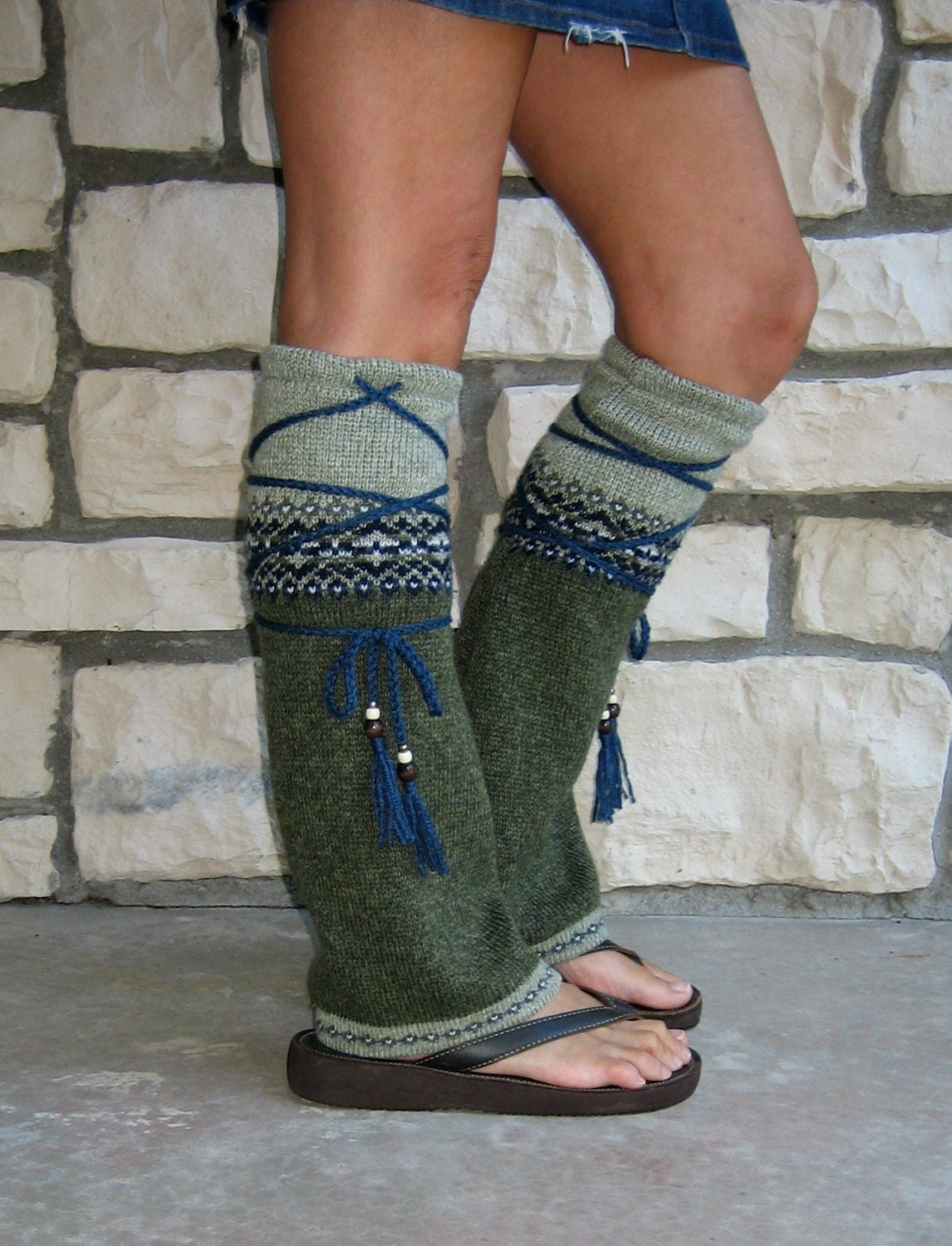 Tribal Flair' Leg Warmers Hippie Clothing Boho Clothing
