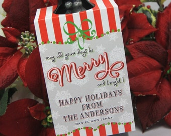 Personalized Wine Gift Tag for Holidays and Hostess Gift (Set of Ten)