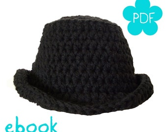 Instant Download - Crochet Pattern - Crochet Hat Elinor - PDF ebook No. 70