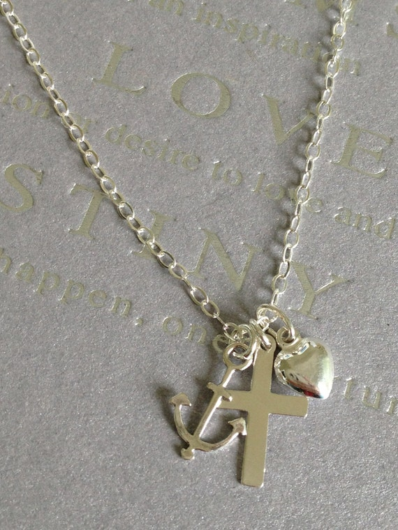 Faith hope and charity sterling silver charm necklace love like this item aloadofball Choice Image