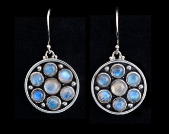 Moonstone Sterling Silver Earrings: GUINEVERE
