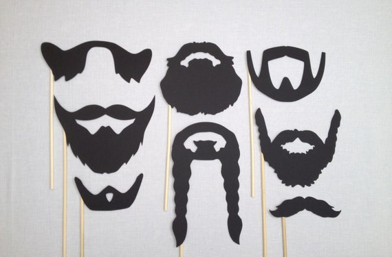 8 barbe photo booth props movember accessoires de mariage. Black Bedroom Furniture Sets. Home Design Ideas