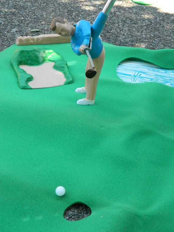 Golf Driver Reviews >> Vintage 1968 MARX ARNOLD PALMER Indoor Golf Course with
