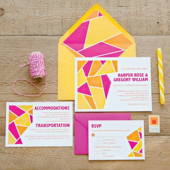 Geometric Invitation Suite SAMPLE PACK