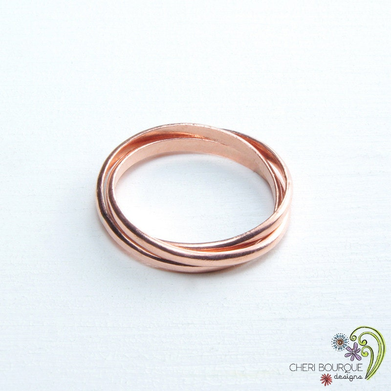interlocking rings russian wedding ring 3 band rolling ring