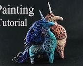 Tutorial Painting of textural surfaces Evgeny Hontor Acrylic Paint Metallic Dry Brush Fantasy Animals Decoration Decor Christmas