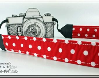 Camera strap, DSLR, red dots, camerastrap