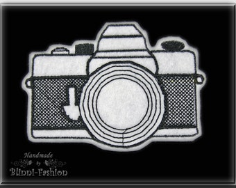 retro Camera -  patch embroidered, application, Choose size and color