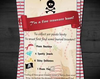 Pirate Treasure Hunt - Scavenger Hunt - Party Favor