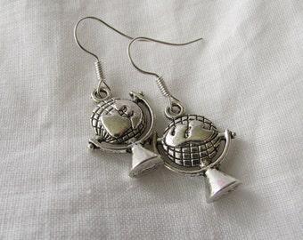 Silver Globe Earrings (E33)