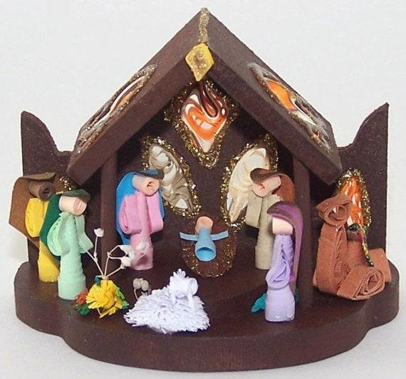 Handmade Quilled Nativity , Christmas Ornament , Paper filigree ...