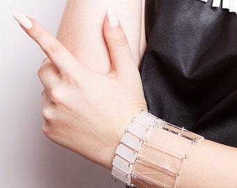 20% SALE Geometric bracelet,panel bracelet,perspex bracelet