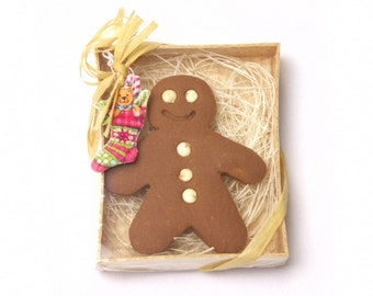 Miniature Gift Box: Gingerbread Man