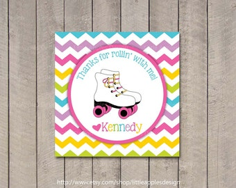 Roller Skate Favor Tags / Roller Skate Gift Tag / Roller Skate Party / Roller Skate Birthday / Roller Skate Printable