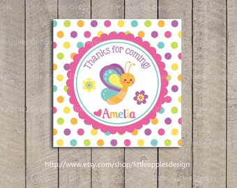 Butterfly Favor Tags / Butterfly Gif Tags / Butterfly Birthday Favor Tags / Butterfly Printable / Purple Butterfly Decoration / DIY