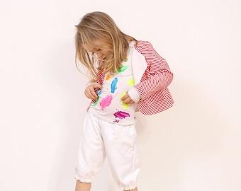 Mina girls BLAZER pattern - toddler jacket pattern pdf - from 2 to 7 years