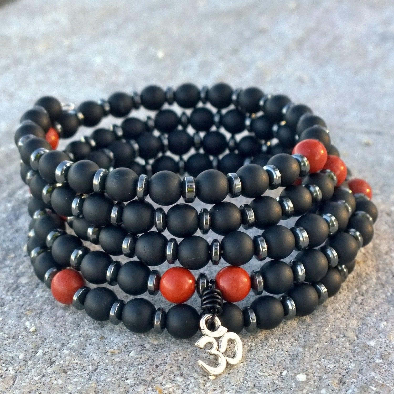 Red Hematite Beads 108 Mala Unisex...