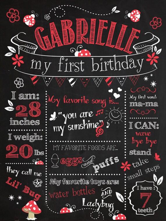 Items Similar To Customizable Printable First Birthday