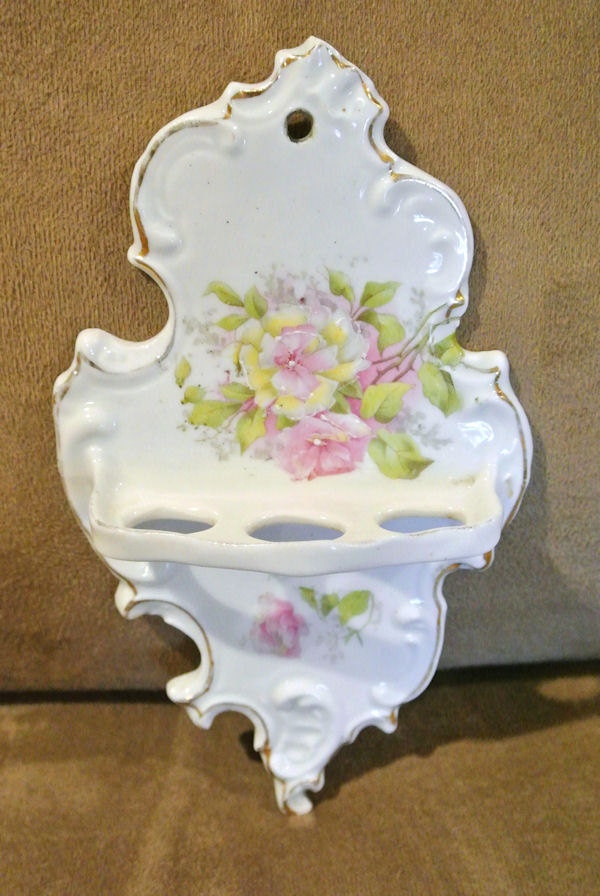 1800s rs prussia victorian toothbrush holder antique porcelain - Victorian toothbrush holder ...