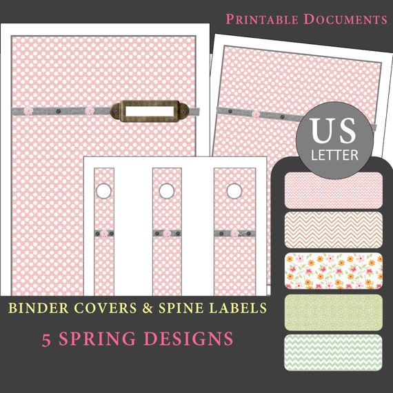 Printable Binder Covers & Spine