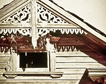 Rustic Photography, Victorian house, Victorian gingerbread, architecture, vintage, antique house, rustic, sepia, Victorian Home Decor
