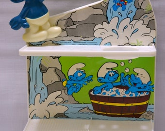 Vintage Smurf Kids Shower Caddy - Bath Vanity - 1980's