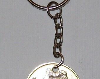 1986 Old Large 20p Twenty Pence Irish Coin Keyring Key Chain Fob 32nd Birthday