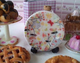 Dolls House miniature Autumn Halloween Ceramic Plate