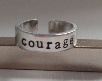 Courage Cuff Ring - Inspirational Gift