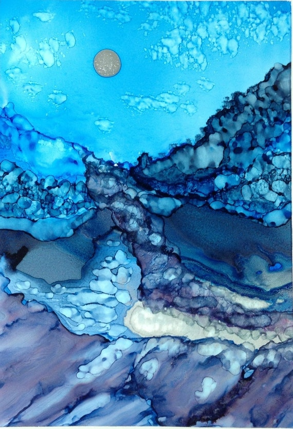 Alcohol Ink Painting Peaceful Abstract By Kcscornergallery
