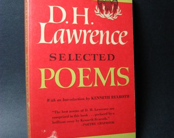 1947 D. H. Lawrence Selected Poems Softcover Poetry Book
