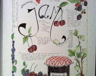 Recipe Jam - watercolor