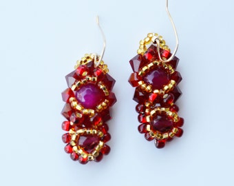 Agate Crystals Earrings