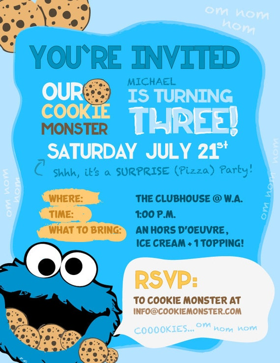 Free Monster Invitation Template is awesome invitation example