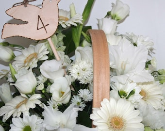 Wedding Table Numbers Rustic Wooden Love Bird Table Number