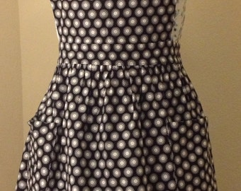 Black & White Polka Dot Full Apron