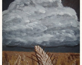 Wheat in the Storm - Original
