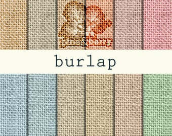 "Burlap Digital Texture Paper   ""DIGITAL BURLAP PAPER"" 12 different burlap pastel colors   Burlap texture elements for scrapbooks and more."