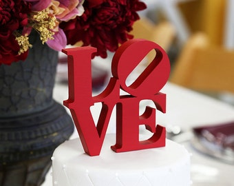 LOVE Cake Topper - Color of Your Choice including Silver or Gold