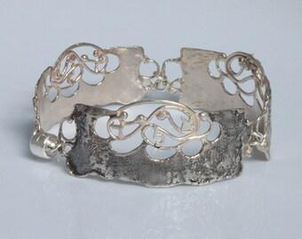 """Handmade """"Protection Against the Evil Eye"""" Silver Bracelet"""