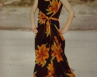 Dress in cotton, viscose or silk convertible Lisbon
