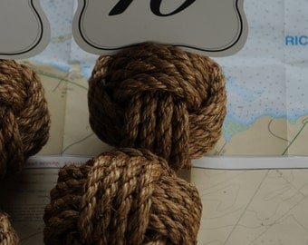 20 Nautical Wedding Table Number Holder Knots