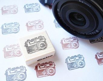 Camera Rubber Stamp, Mini Retro Camera, Custom stamp, Japanese stationery