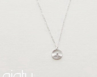 Silver Initial Necklace, Personalized Necklace, Initial Necklace, Wedding Jewelry, Bridesmaid Necklace, Personalized Jewelry