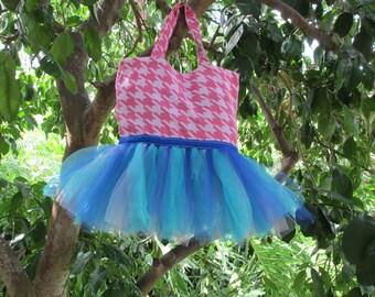 Pink Houndstooth Tutu Bag
