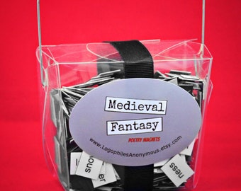 Medieval Fantasy Poetry Magnet Set - Refrigerator Poetry Magnets - Free Gift Wrap