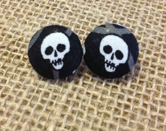 Skeletons Button Earring