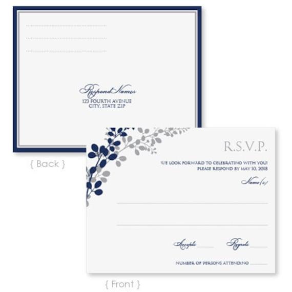 wedding rsvp postcard template instant download by karmakweddings. Black Bedroom Furniture Sets. Home Design Ideas